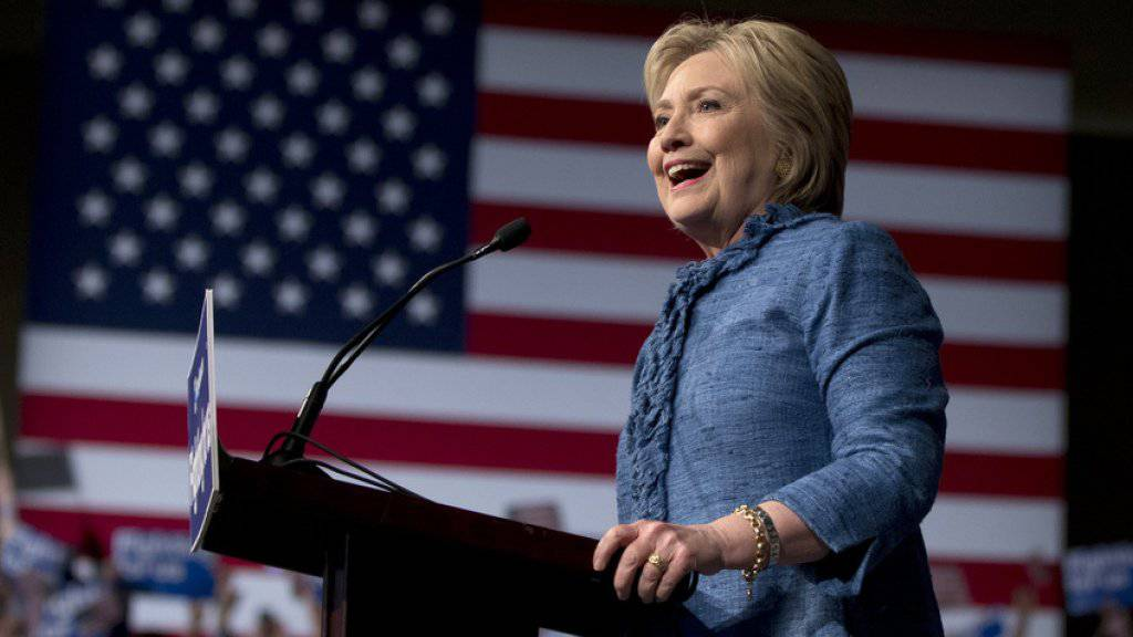 Hat in den jüngsten US-Vorwahlen wichtige Siege eingefahren: Hillary Clinton, hier bei einer Veranstaltung im Palm Beach County Convention Center in West Palm Beach, Florida.