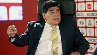 Argentiniens Fußball-Ikone Diego Maradona.
