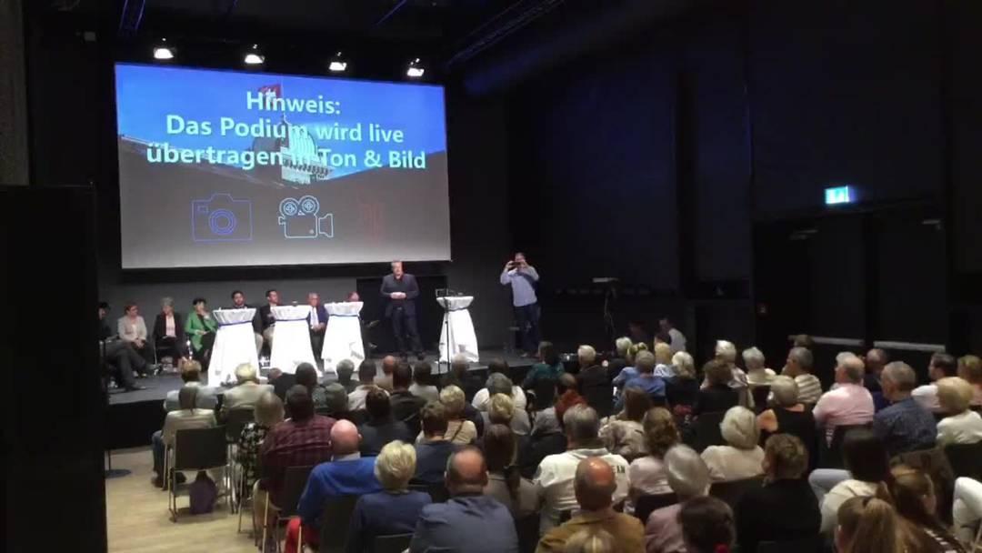 Podium zu den Ständeratswahlen Aargau, 19.9., Trafo Baden 5
