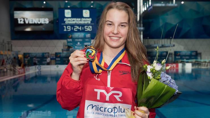 Michelle Heimberg aus Fislisbach gewinnt sensationell die EM-Silbermedaille.