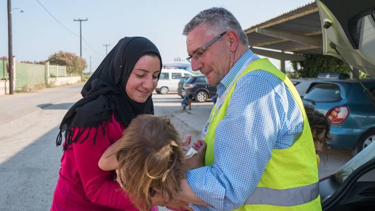 Andreas Glarner besuchte 2016 ein Flüchtlingslager in Griechenland.