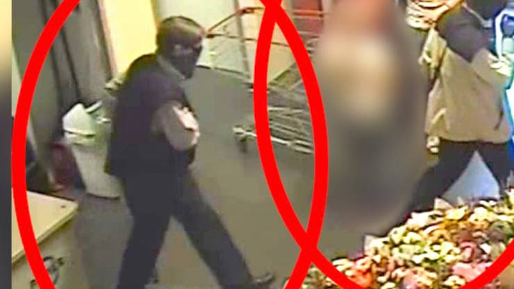 Die Bilder einer Überwachungskamera zeigen nach starkem Vermuten die Ex-RAF Terroristen Burkhard Garweg (r.) und Ernst-Volker-Staub, die am 07.05.2016 in Hildesheim (Niedersachsen) vergeblich versuchen einen Geldboten zu überfallen.