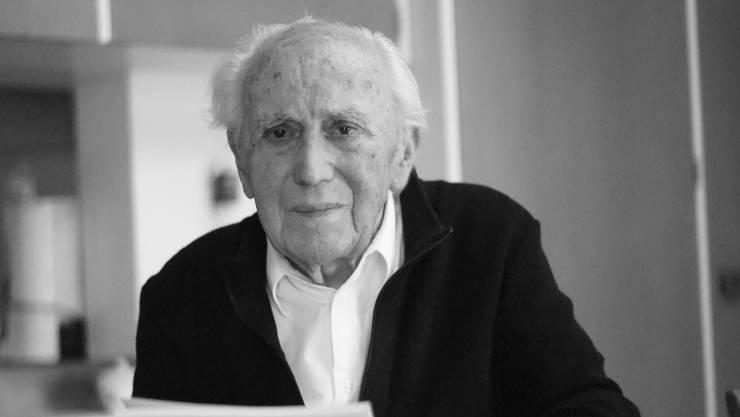Gottfried Wyss im Oktober 2017 mit 96 Jahren.