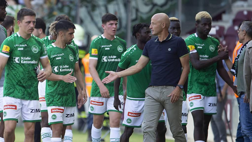 Peter Zeidler und seine Spieler des FC St.Gallen wollen wieder in die Erfolgsspur zurück.