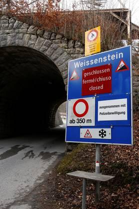 Die Strasse auf den Weissenstein ist geschlossen