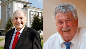 Oswald Müller (links) und Urs Leo Hammer