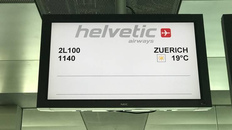 Die Maschine führte einen exklusiven Rundflug über der Schweiz durch, bevor sie ein letztes Mal auf der Piste vom Flughafen Zürich aufsetzte.