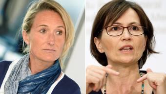 Sind sich nicht einig: Regierungsrätin Susanne Hochuli und Parteipräsidentin Regula Rytz.