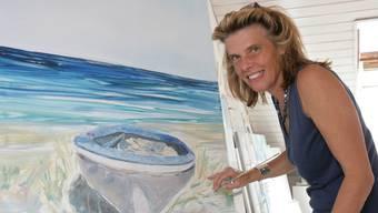 Die Weite des Meeres: Claudia Anesini liebt durchaus auch das grosse Format. (Peter Siegrist)