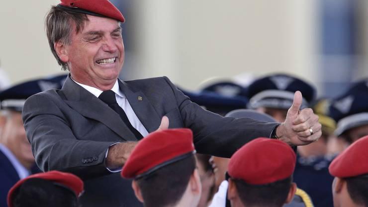 Hat bisher kein Politprogramm vorgelegt, dafür mit Steve Bannon Kontakt aufgenommen: Jair Bolsonaro.
