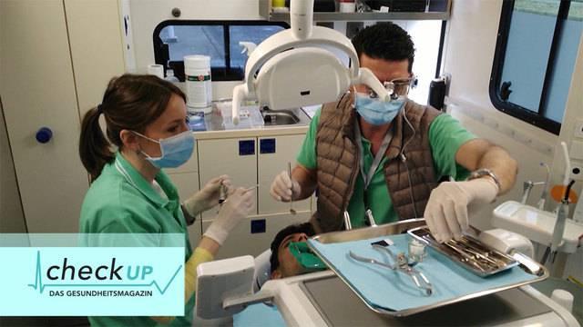 Mobile Zahnklinik im Flüchtlingscamp