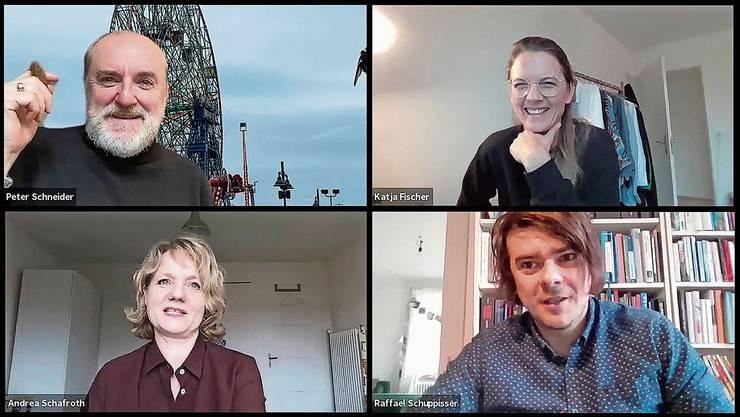 Katja Fischer und Raffael Schuppisser im Gespräch mit Andrea Schafroth und Peter Schneider.