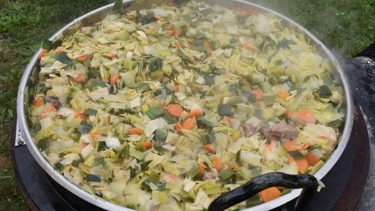 Die schmackhafte Suppe beim Fahrweider-Suppentag 2019
