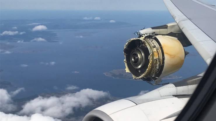 Trotz Triebwerksexplosion sicher gelandet: Ein Airbus A-380 der Air France über Neufundland.