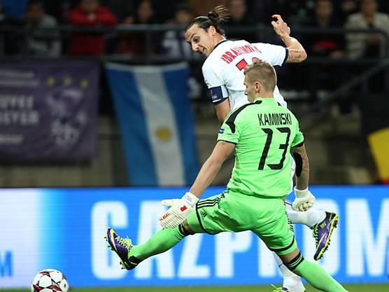 Zlatan Ibrahimovic trickste Anderlecht-Goalie Thomas Kaminski aus.
