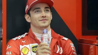 Charles Leclerc sichert sich in Bahrain seine erste Pole-Position der Karriere