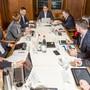 Der Badener Stadtrat besteht aus sieben Mitgliedern (plus einem Stadtschreiber). Die Mitglieder haben sich bereit erklärt, offen über eine Verkleinerung zu diskutieren. (Archiv)