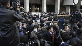 In Japan war das Medieninteresse enorm, als am Dienstagmorgen der Automanager Carlos Ghosn vor Gericht erschienen ist.