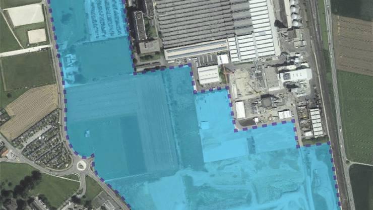 Das Areal des Masterplans umfasst total rund 244 000 Quadratmeter.