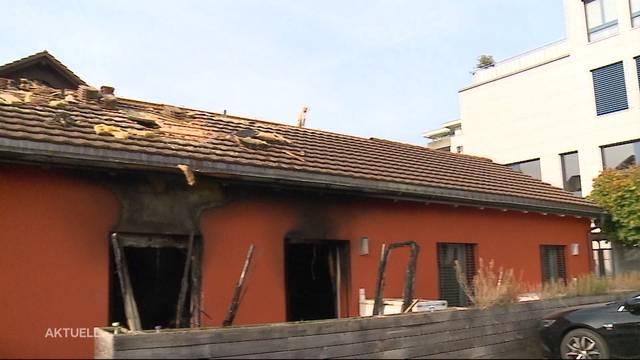 Vier Personen nach Brand im Spital