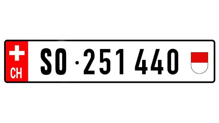 So könnte das neue Kennzeichen für den Kanton Solothurn aussehen.