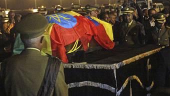 Die sterblichen Überreste von Meles Zenawi