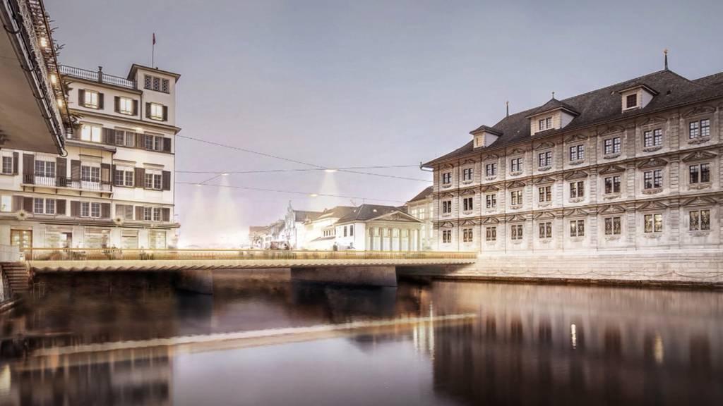 Siegerprojekt für die Sanierung der Rathausbrücke vorgestellt