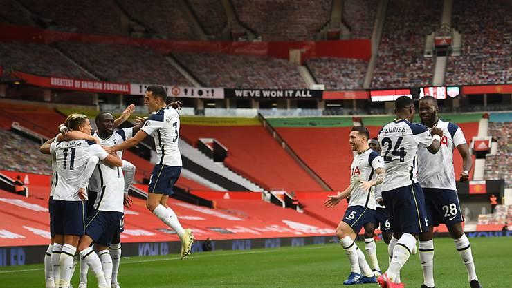 Das grosse Jubeln im Old Trafford: Tottenham siegt in Manchester nach frühem Rückstand klar