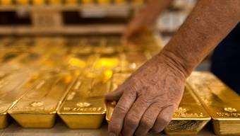 Goldbarren im Tresor der Zürcher Kantonalbank.