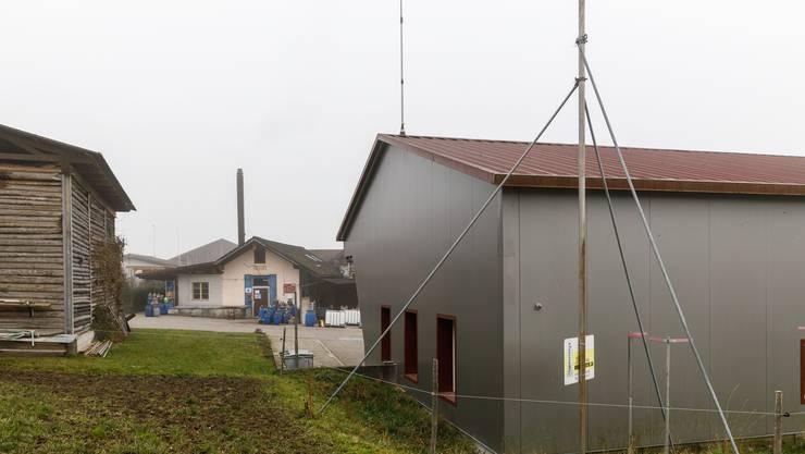 Standort der geplanten Swisscom-Antenne beim Feuerwehrmagazin