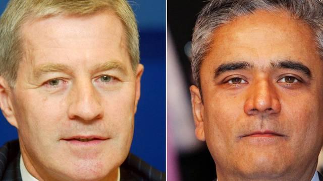Jürgen Fitschen (links) und Anshu Jain übernehmen den Vorstandsvorsitz der Deutschen Bank