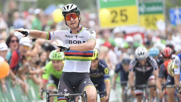Peter Sagan gewinnt die 5. Etappe der Tour de Suisse.