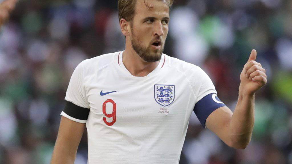 Englands Teamcaptain Harry Kane bindet sich bis 2024 an Tottenham Hotspur