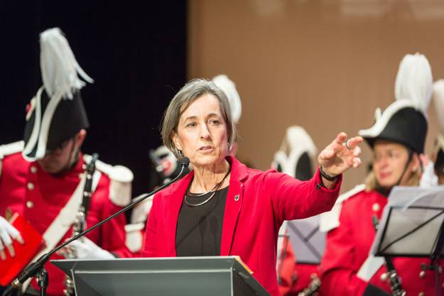 Angelica Cavegn Leitner, Vizestadtpräsidentin moderierte den Abend.