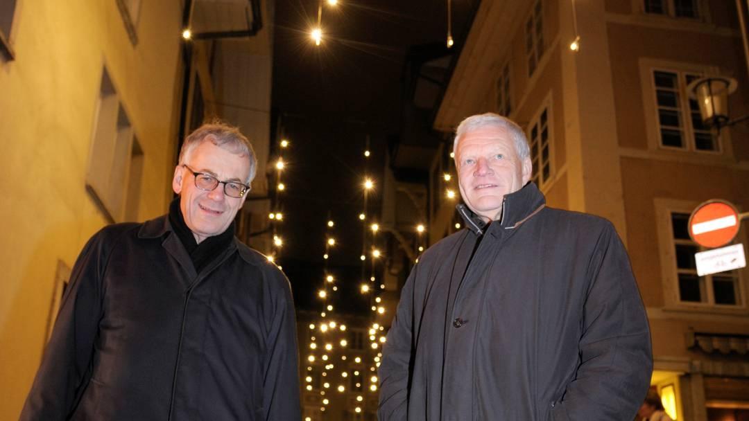 Weihnachtsbeleuchtung von Solothurn wird angeschaltet