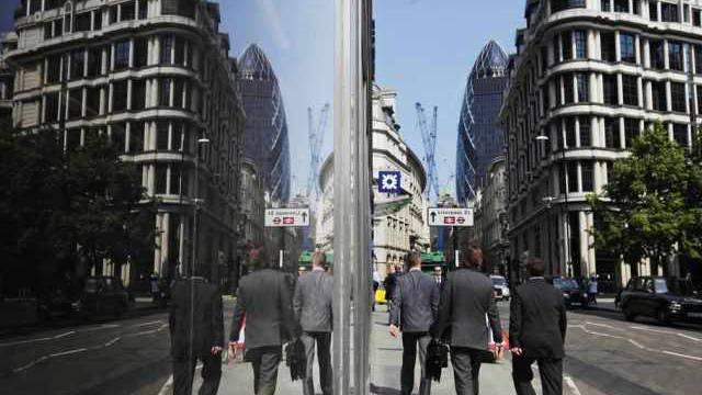 Blick auf eine Strasse in Londons Bankenviertel (Archiv)