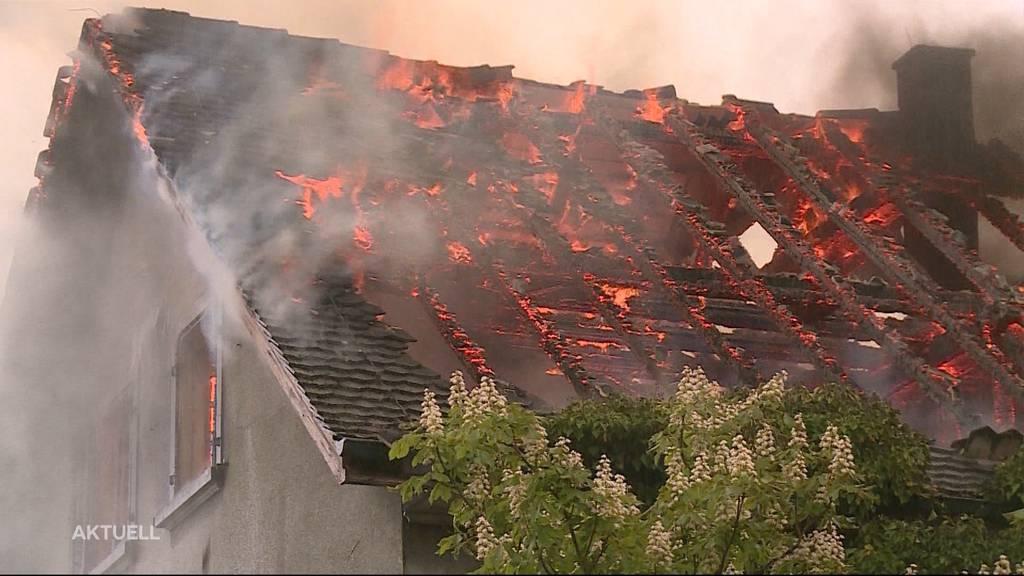 Niedergebrannt: Der «Rössli»-Besitzer von Bünzen hat sein Elternhaus verloren