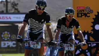 Karl Platt und Urs Huber fahren in Kapstadt auf der ersten Rang.
