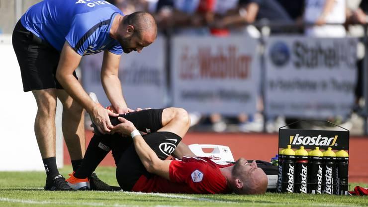 Marco Schneuwly (r.) wurde beim Cup-Knorz in Amriswil brutal gefoult
