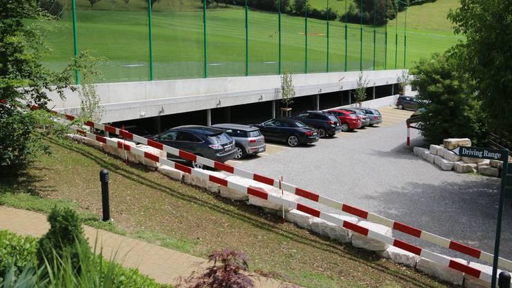 Die neue Einstellhalle bei der Golfanlage in Frick hat 46 Abstellplätze.