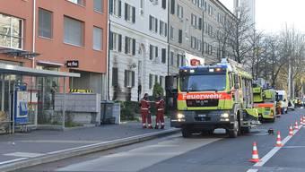 In Zürich an der Hardstrasse hat es gebrannt