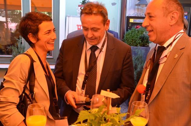Jasmina Ritz, André Bender und Rolf Wyssling