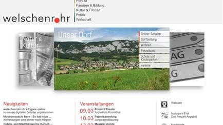 So präsentiert sich die Homepage seit gestern Donnerstag. zvg