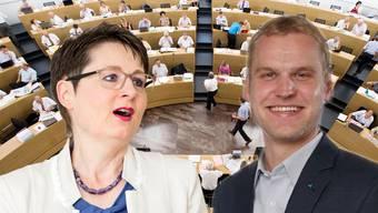 Adrian Bircher vs. Franziska Roth: Der Grossrat reicht wegen der vieler Personalwechsel seit Amtsbeginn einen Vorstoss ein.