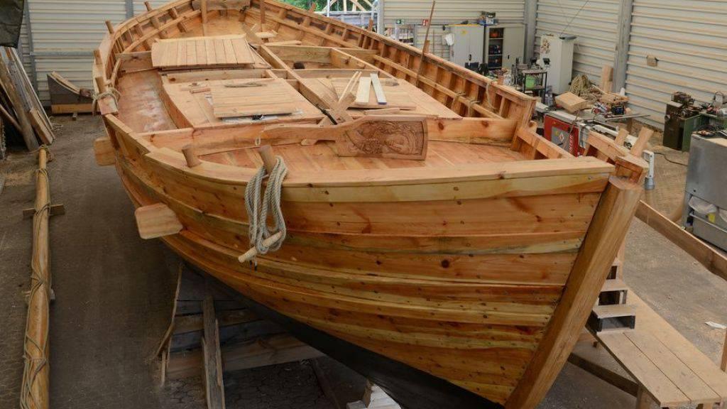Die Laurons 2, originalgetreuer Nachbau eines römischen Segelfrachters, steht in einer Halle der Universität Trier. Im Juli soll sie vom Stapel gelassen werden.
