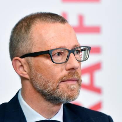 Raiffeisen-CEO Heinz Huber an der Bilanzmedienkonferenz in Zürich am 1. März 2019.