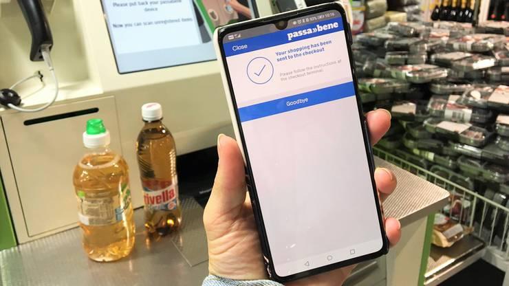 Über die Passabene-App von Coop lassen sich keine Bezahlungen tätigen. Dafür müssen Kunden weiterhin an die Kasse.