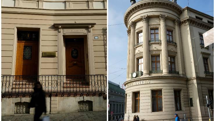Hier an der Rittergasse 25 hat die «neue alte» Bank ihr Domizil (links) und im «Schilthof» (Bankenplatz) ist das Asset-Management von Notenstein La Roche tätig (rechts).