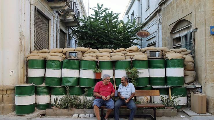 Die sogenannte grüne Linie trennt die beiden Teile Zyperns. Nach erfolglosen Verhandlungen ist eine Wiedervereinigung in weite Ferne gerückt. (Archiv)