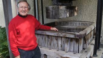 Fredy Boll ist bekannt für die Qualität seines Mostes